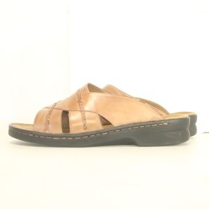 Clarks Women's 12M Sandals Slides Leather Casual